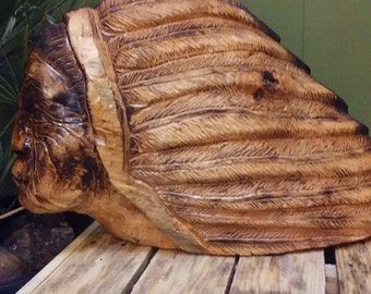 Wood Carved Native American