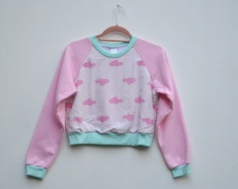 Upcycled Cloud Cropped Jumper