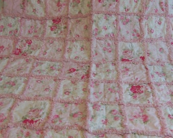 Throw, Shabby Chic, Lap Quilt, Beach Cottage, Country Chic