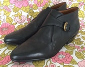 Black Leather Etienne Aigner Ankle Booties Size 5