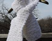 Snowfall White Keyhole Pass-thru Scarf