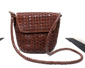 DILLARD'S Woven Leather Shoulder Bag