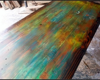 Reclaimed Salvaged Wood Dining Table or Desk
