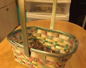 Pastel Wicker Easter Basket