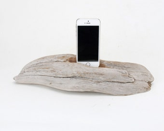 Docking Station for iPhone, iPhone dock, iPhone Charger, iPhone Charging Station, iPhone driftwood dock, wood iPhone dock/ Driftwood-No. 911