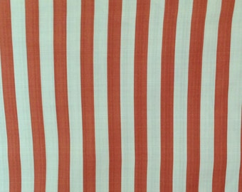 Outdoor Fabric, Outdoor Cushion Fabric, Striped Cushion Fabric, Orange and White Outdoor Fabric, Waverly