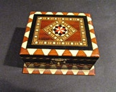 Vintage Marquetry Box In Great Shape For Age