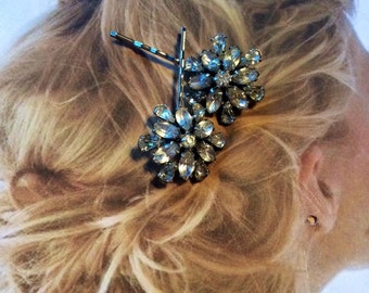 Decorative Hair Pins Jewelry Art Deco Paste Rhinestone Bridal Hairpins Bobby Pins
