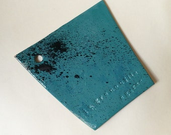 Ceramic turquoise cutting board for appetizer