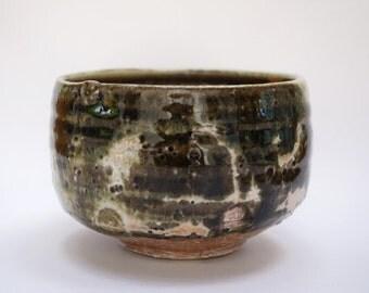 Wood fired ash glazed Tea Bowl