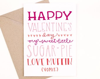 funny valentine's day card - recycled paper