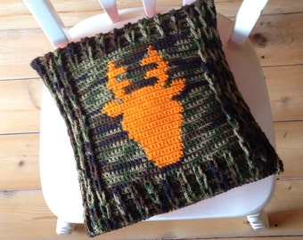 Fall Decor - Deer Antler Pillow Cover Crochet -Home Decor - Baby Nursery Child Woodland Room Decor-Deer Hunter - girl - boy