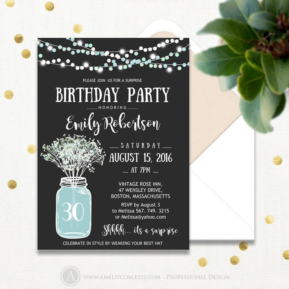Adult Surprise Birthday Invitations Printable 30th Birthday