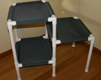 NEW The 3 Tier Cat Condo - Heavy Duty Cordura Fabric - Medium Grey