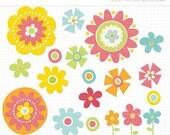 50% OFF SALE Clipart - Spring Flowers / Spring Has Sprung (#2) - Digital Clip Art (Instant Download)