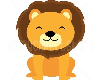 Clipart - Lion / Jungle / Safari Clipart (Single Clipart Image) - Digital Clip Art (Instant Download)