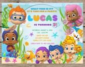 Bubble Guppies Invitation, Bubble Guppies Birthday Invitation, Bubble Guppies Party, Under The Sea, Bubble Guppies Invite PRINTABLE/PRINTED