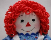 Raggedy Ann doll 12 inch handmade