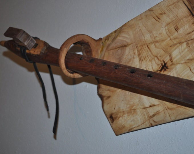 Native  American Style A scale Honduras  Rosewood flute BY CRAZY BEAR