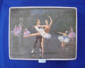 Satin Hankie Box with Ballerina Design