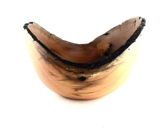 Wood Bowl No.160677- Natural Edge Amarello Wood