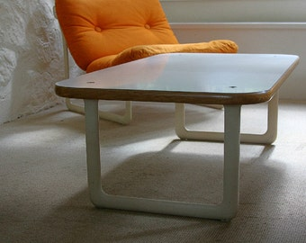 Knoll Hannah Morrison 70s Coffee Table - Modern, Laminate, Plywood, Metal