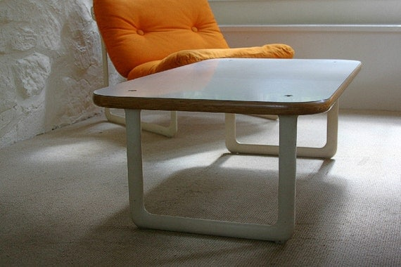 Knoll Hannah and Morrison 70s Coffee Table - Modern, Laminate, Plywood, Metal