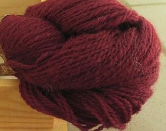 100% Wool yarn for knitting Dark Bordo100g N 6/2