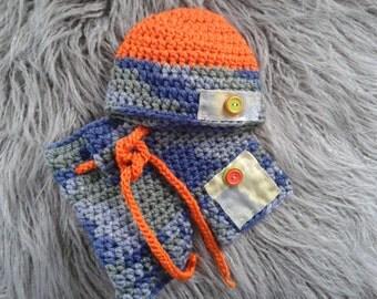 SALE!Newborn Boy  Photo Prop set,Baby boy Hat,Shorts ,Baby boy knit hat,shorts.