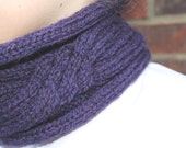 KNITTING PATTERN Carlota Cabled Knitting Pattern Short Cowl Womens Teenager Fashion Winter Accessory Neckwear Neckwarmer