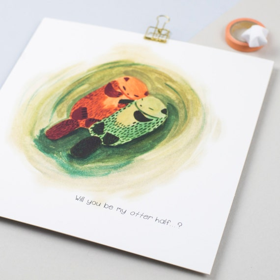 Will you be my Otter Half? Print