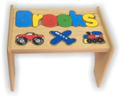 Children's Personalized Puzzle Stool