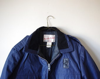 Vintage Blue North Point Winter Jacket - Size 44R