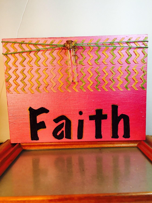 Inspirational home decor with faith written in for Faith decor