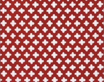 Polka Dot Fabric, Red Fabric, Cotton Fabric, Modern Fabric, Dot Fabric, Robert Kaufman, Baby Fabric, Fat Quarter, End of Bolt, Daisy Fabric