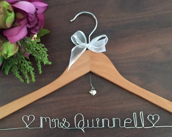 Personalised Coat Hanger, Bridal Hanger, Custom Hanger; wedding name hangers, gift for bridesmaid, bride gift, wedding coat hanger, hangers