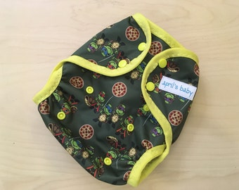 One Size Waterproof PUL Cloth Diaper Cover - half shell heros