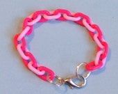 Pastel and Neon Pink Chain Bracele
