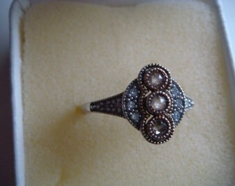 Vintage Diamond and Silver Ring