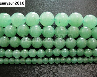 Natural Green Aventurine Gemstone Round Beads 15.5'' 2mm 3mm 4mm 6mm 8mm 10mm 12mm Great For Jewelry Design and Crafts