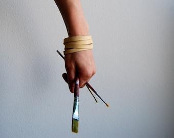Deerskin Leather Cuff Bracelet ~Narrow