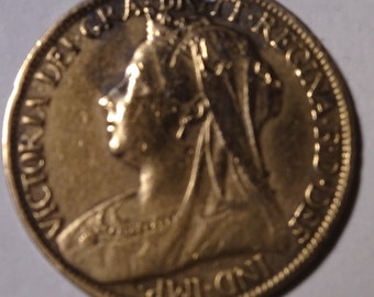 1901 Victorian Farthing Coin - Last Year of her Reign
