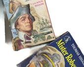 vintage paperback book lot, two paperbacks, Captain Nemesis, Mr Roberts, nautical