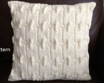 PDF Pattern, How To Knit A Chain Link Pillow 16in x 16in