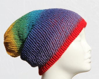 Reversible Winter Hat - Slouchy Hat - Knit Hat - StoneJoyDesign by Petra Aine Ruger