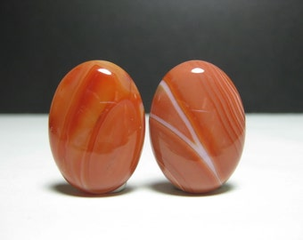 Clearance - 2 nos. of Oval Carnelian Cabochon - 6607