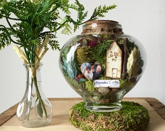Moss Terrarium - Anniversary Gift - Personalized Gift - Couple Gift