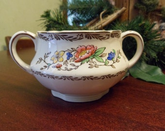 Alfred Meakin Sugar Bowl in the Jerome Pattern, Hand Painted   (T)