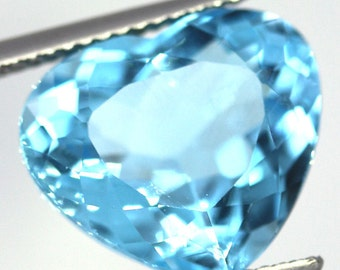 10.13 Carat Natural Swiss Blue Topaz Heart
