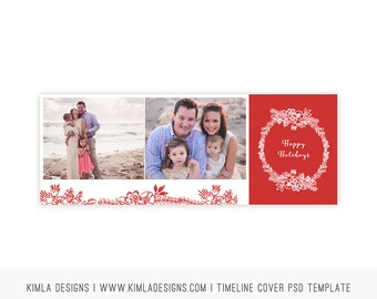 Christmas Timeline Cover PSD Template